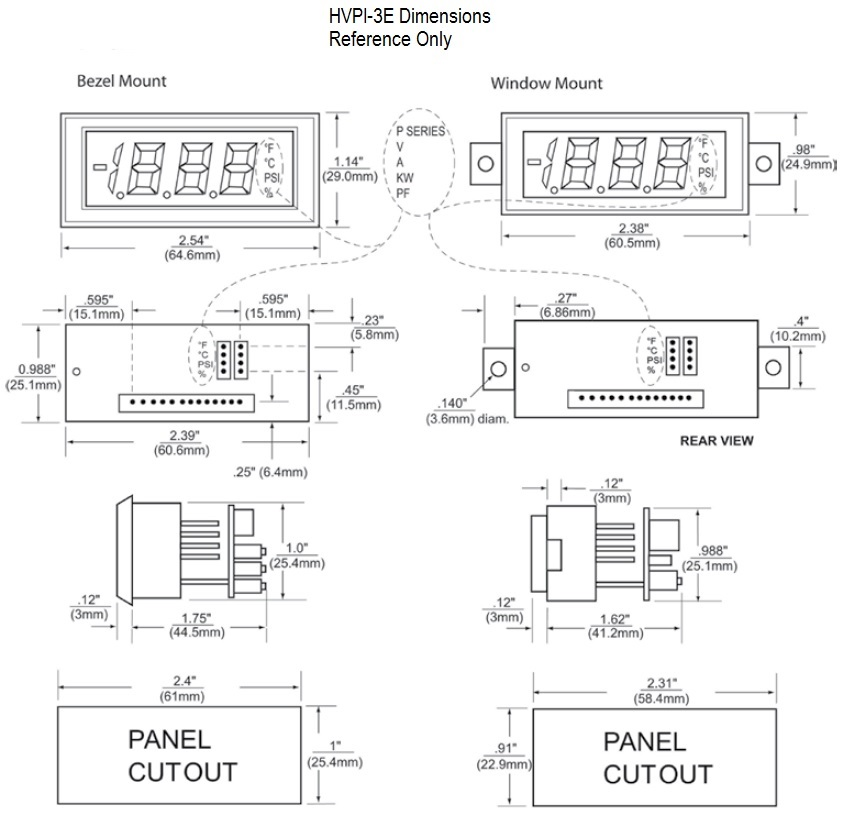 HVPI-3E Dimensional Drawing
