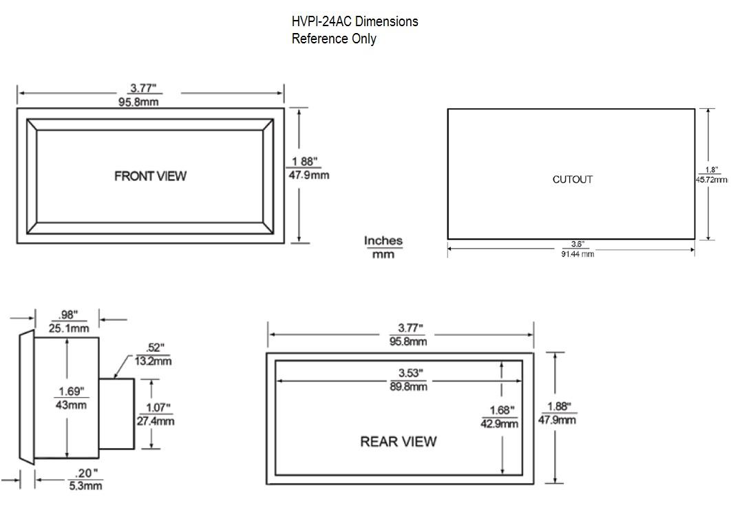 HVPI-24 Dimensional Drawing