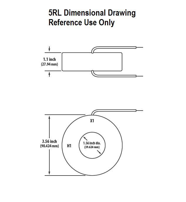 5RL Dimensional Drawing