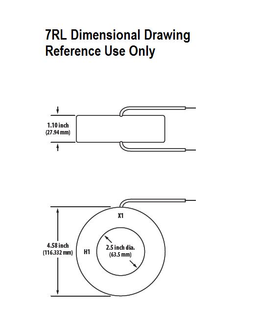 7RL Dimensional Drawing