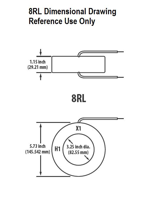8RL Dimensional Drawing