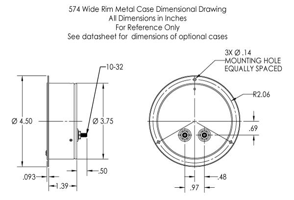 574 Dimensional Drawing