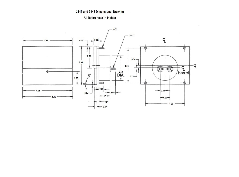 3145 Dimensional Drawing