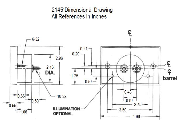 2145 Dimensional Drawing