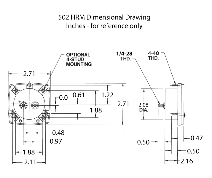 502 HRM Dimensional Drawing