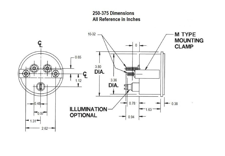 250-375 Dimensional Drawing