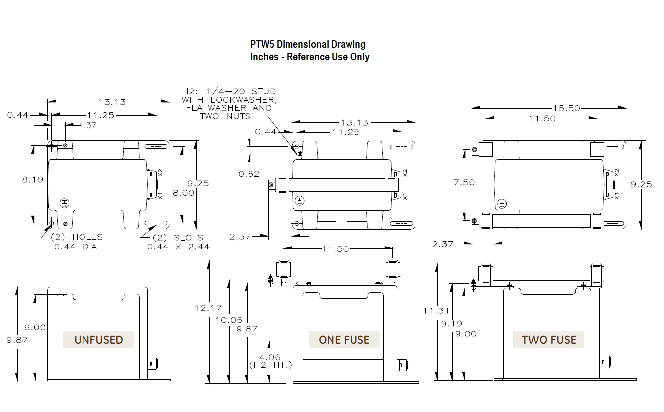 PTW5 Dimensional