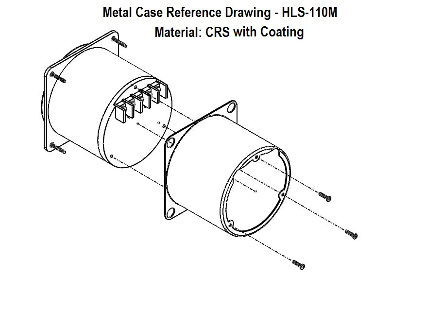 HLS-110 Metal Case Install Drawing