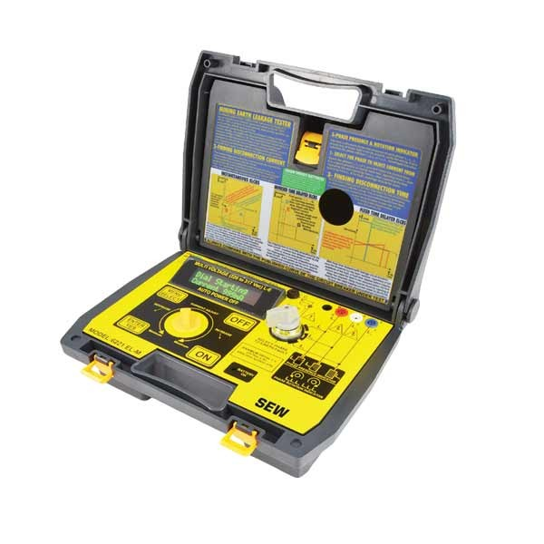 6221 EL-M 3 Phase Industrial Earth Leakage Tester / 3 Phase Presence & Rotation Indicator (OLED Display)