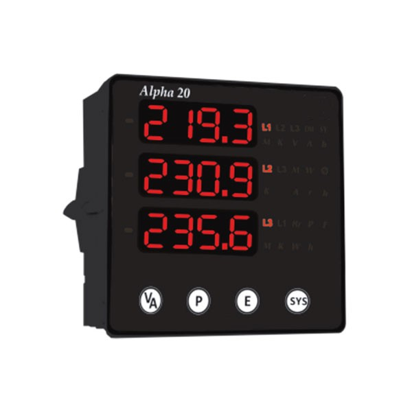 Alpha 20 DIN Multifunction 3-Phase Network Monitor