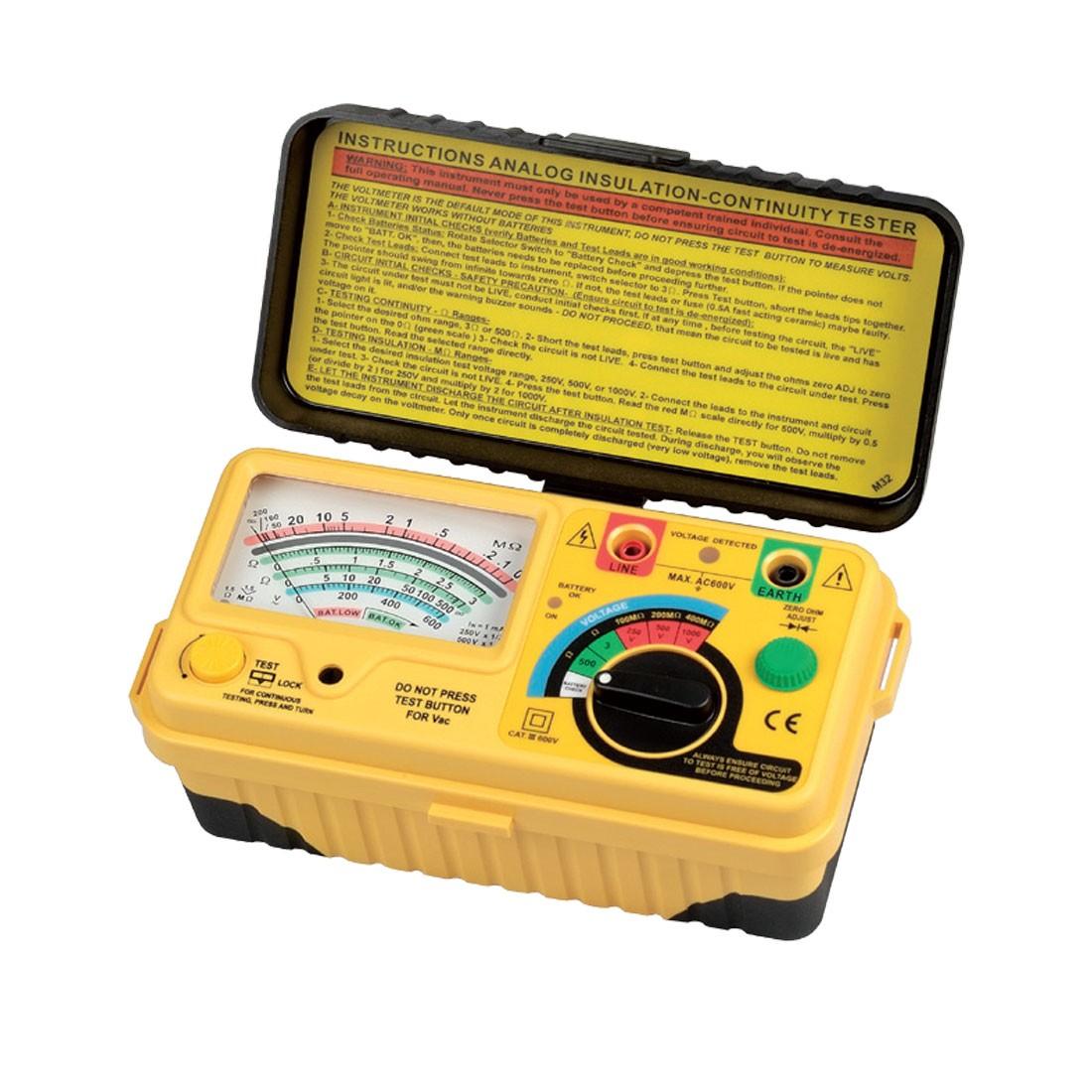 1132IN Series: Analogue (1kV below) Insulation Tester