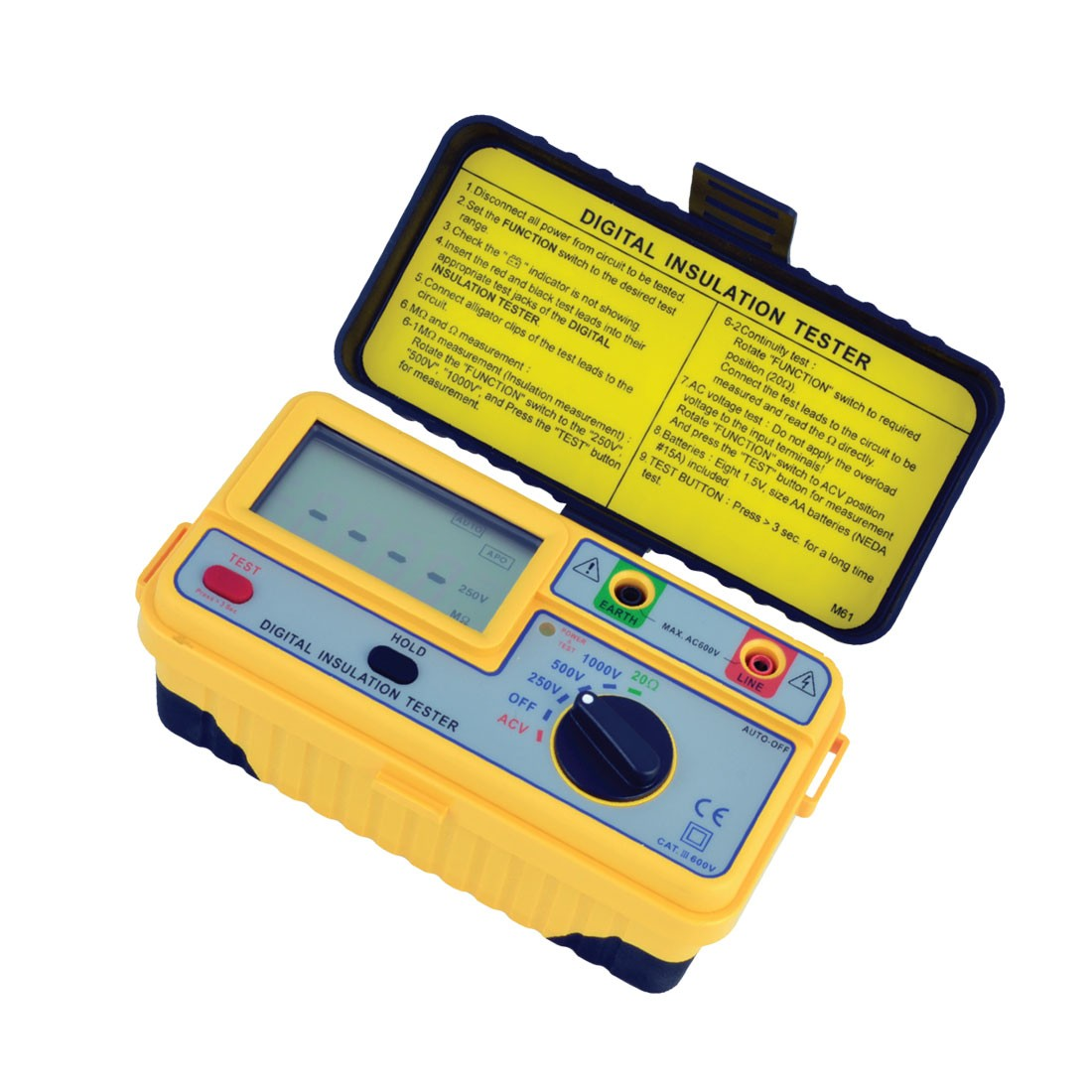 1161IN Series: Digital (Up to 1kV) Insulation Tester