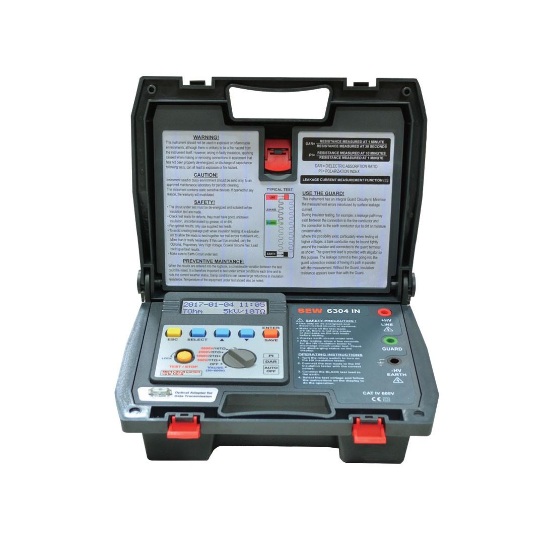6304IN Digital (1kV up) High Voltage Insulation Tester
