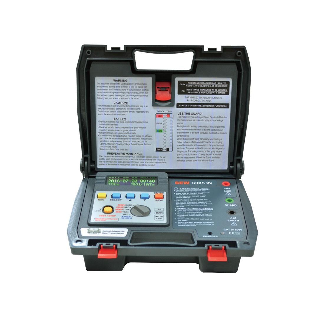 6305IN Digital (1kV up) High Voltage Insulation Tester