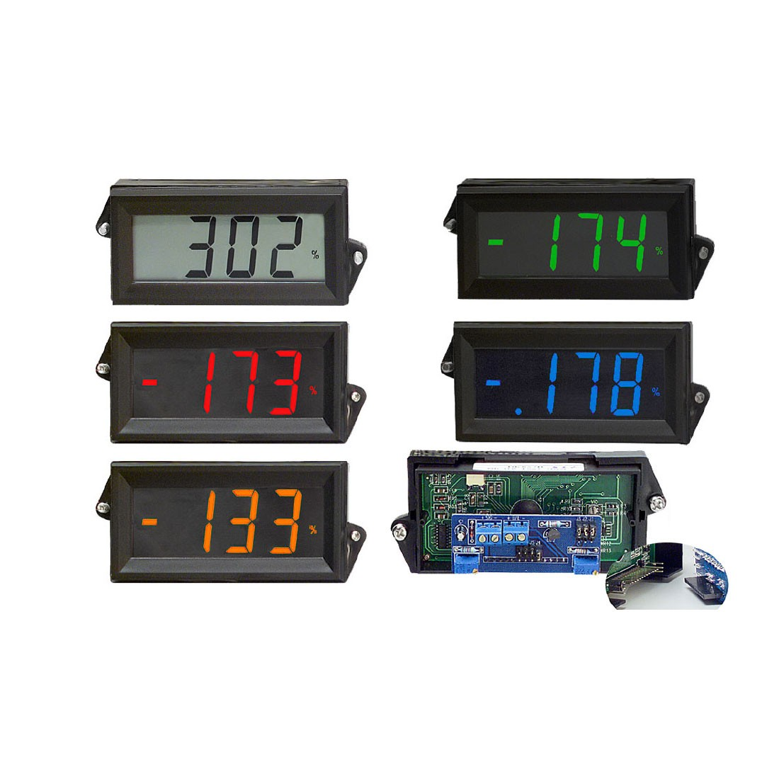 HVPI-800 Series Voltage Powered LCD Digital Panel Meter