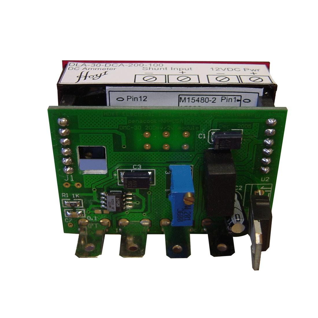 DLA-30-DCA-200-100 LED DC Ammeter - Front View