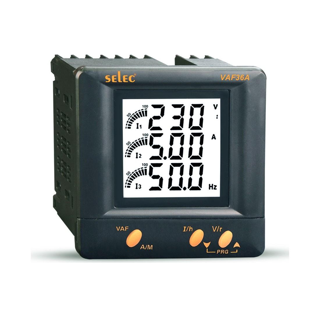Selec VAF36A Voltage, Current, Frequency Meter