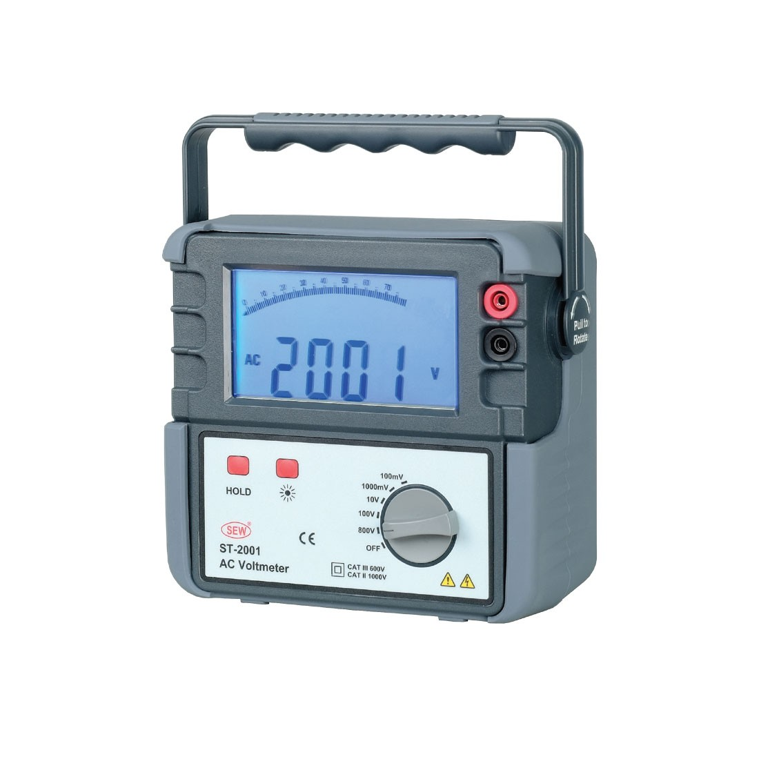 ST-2001ACV Large Digit Portable AC Multimeter