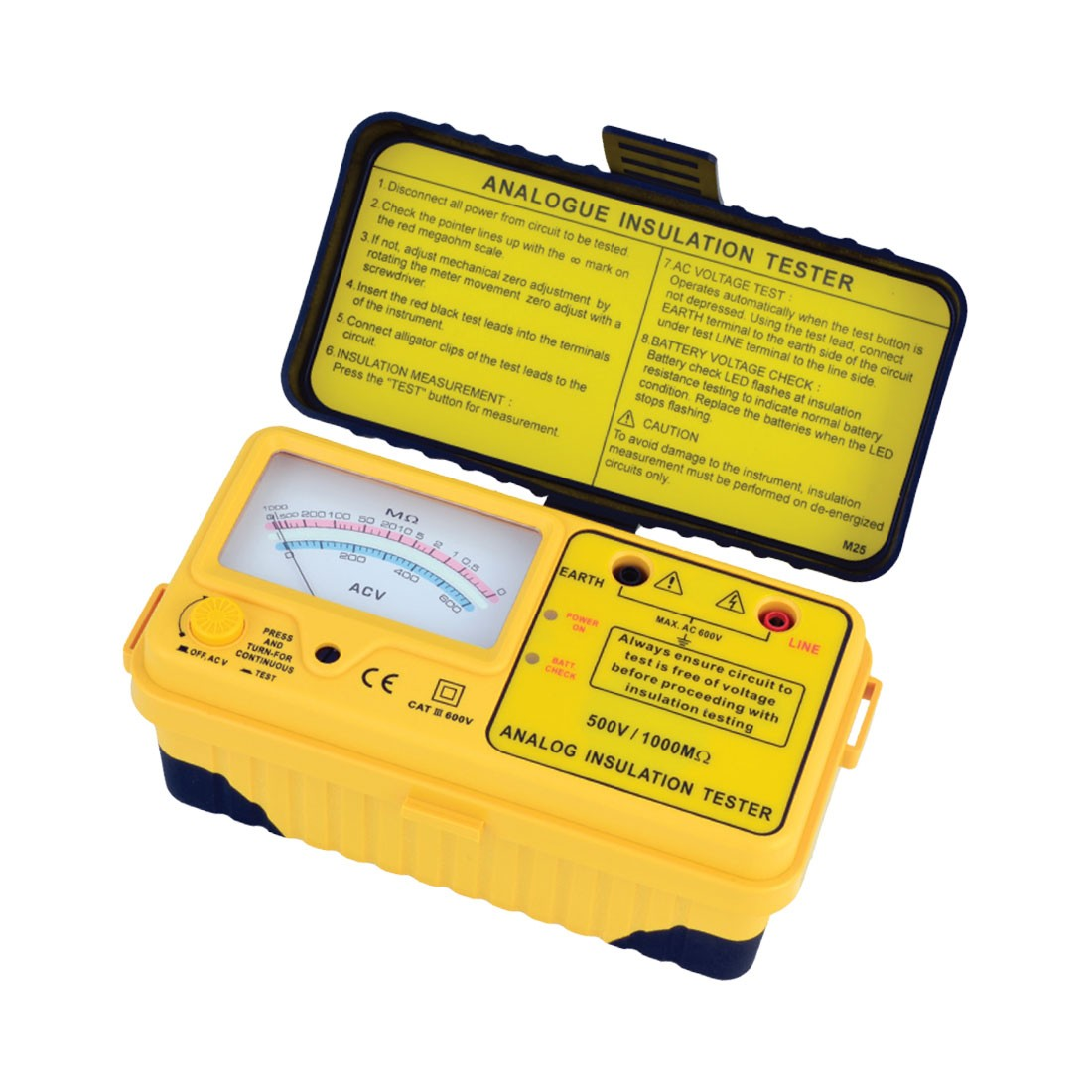 1125IN Series: Analogue (1kV below) Insulation Tester