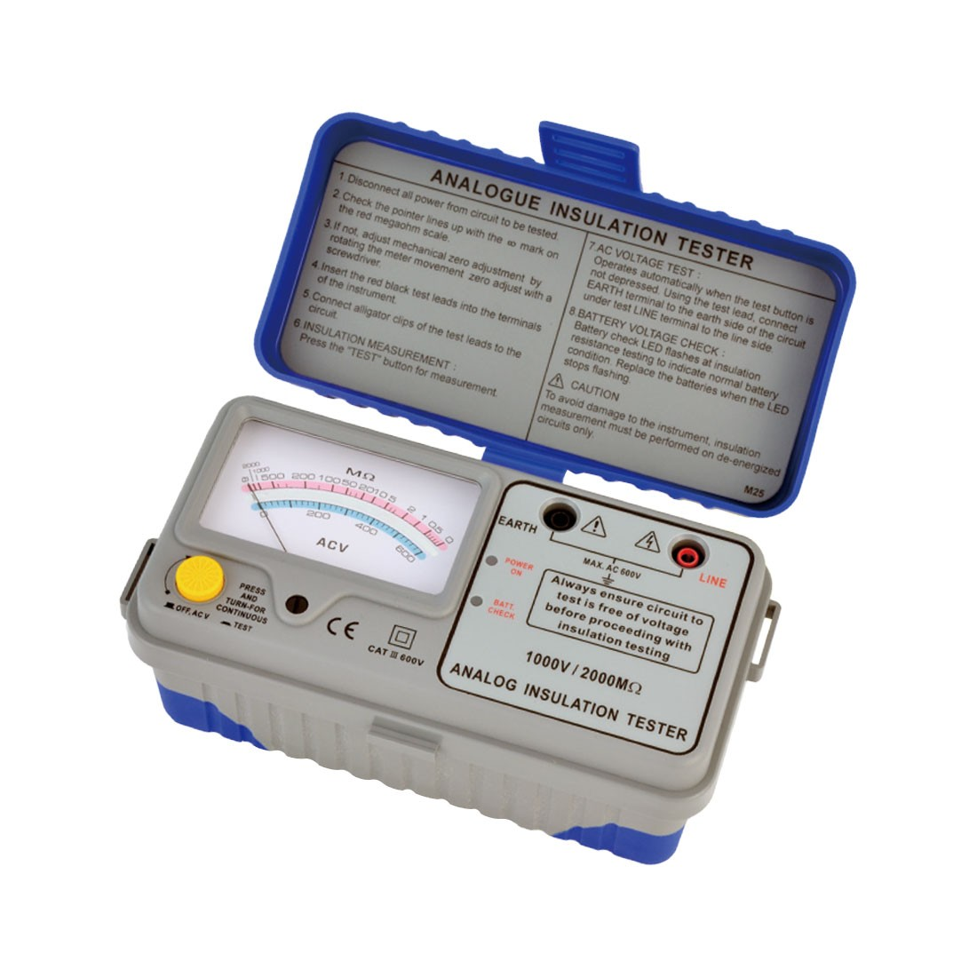 1126IN Series: Analogue (Up to 1kV) Insulation Tester