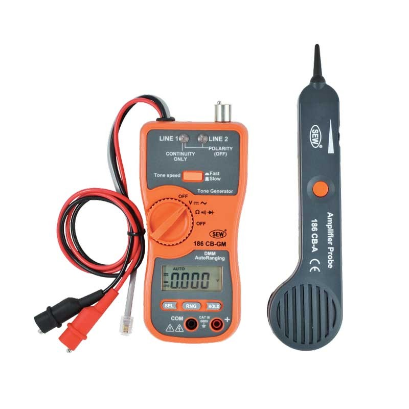 186CB Cable Tracer & Digital Multimeter
