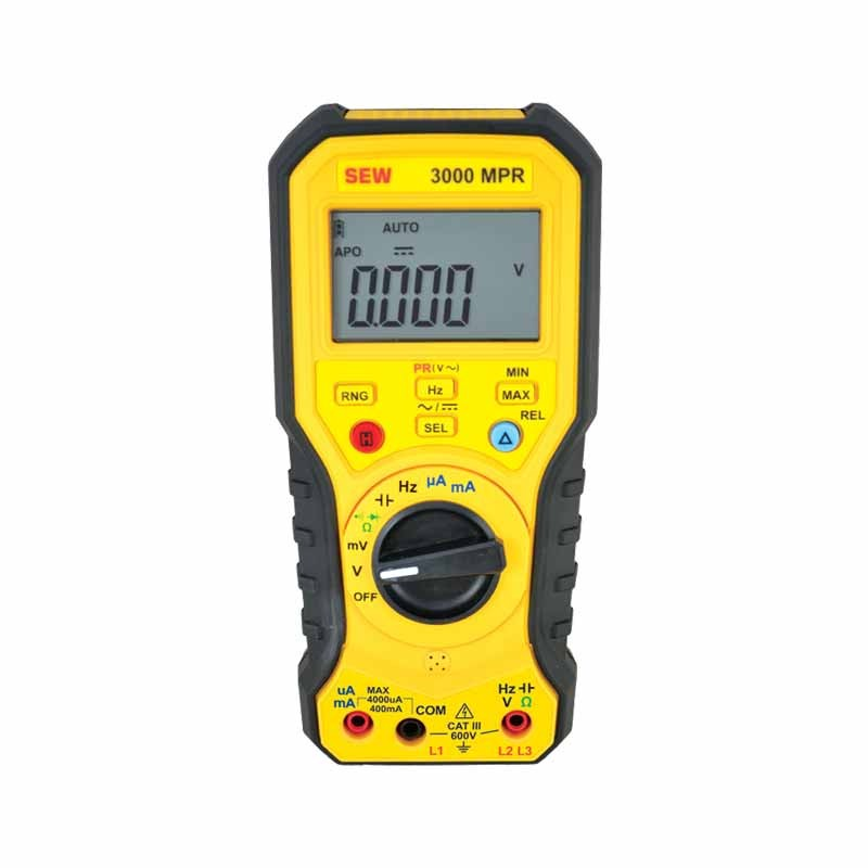 3000 MPR Digital Multimeter and Phase Rotation Tester