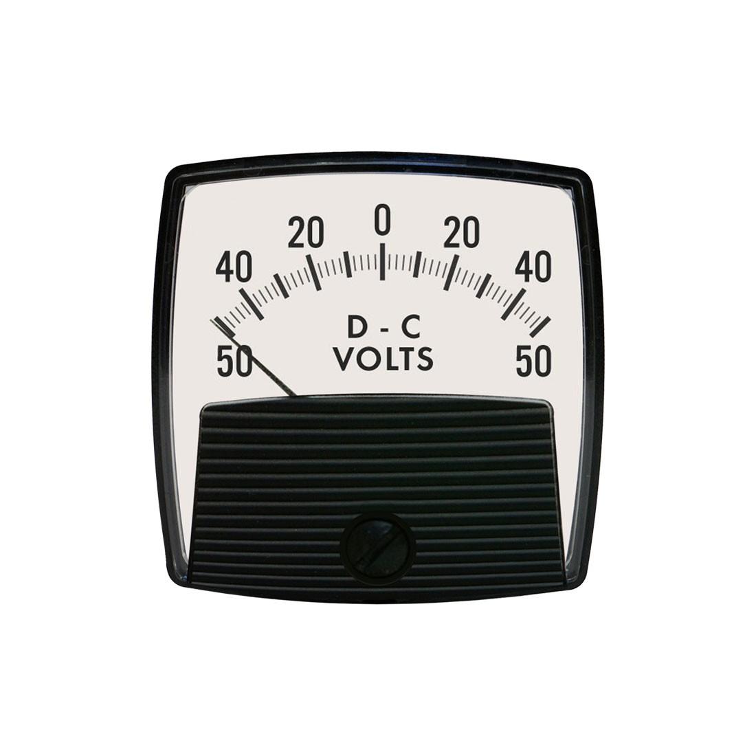 5015 DC Analog Panel Meter - Front View