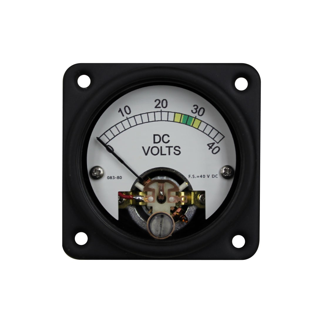 635MM AC DC Sealed Analog Meter - Front View