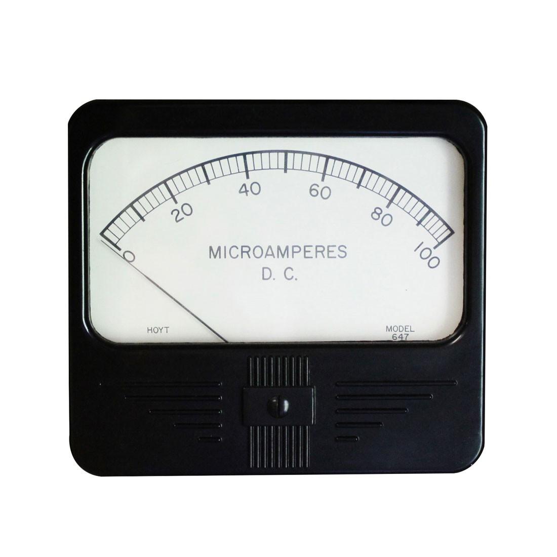 647 DC Analog Panel Meter  - Front View