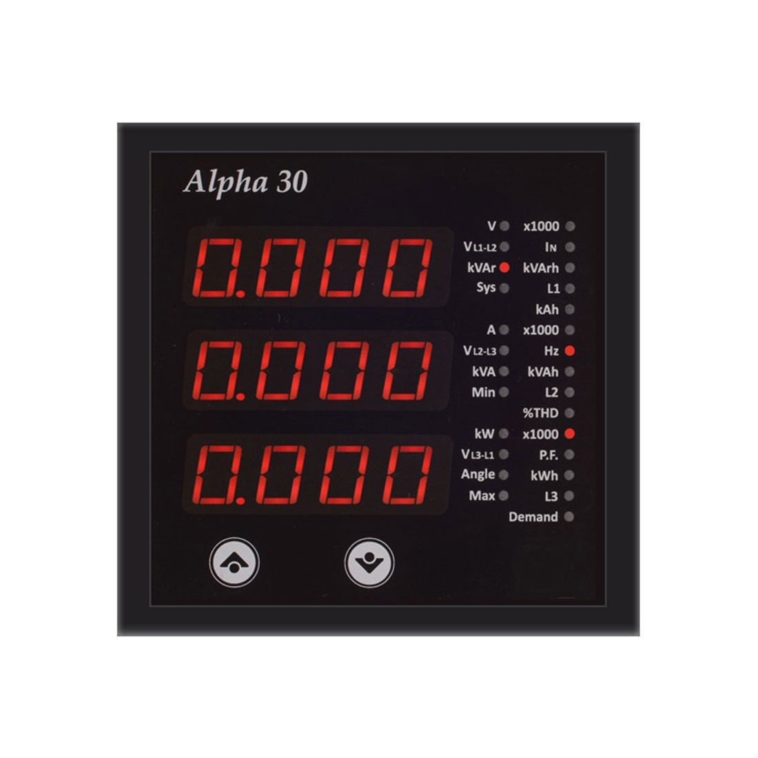 Alpha 30 Digital Multifunction LED Power Monitor with Fixed Annunciators
