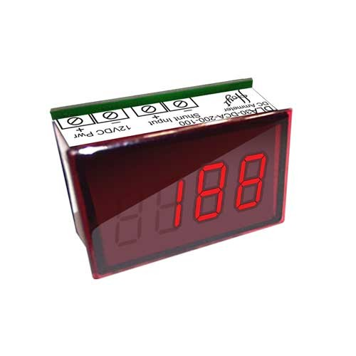 DLA-30-DCA-200-100 LED DC Ammeter - Front View
