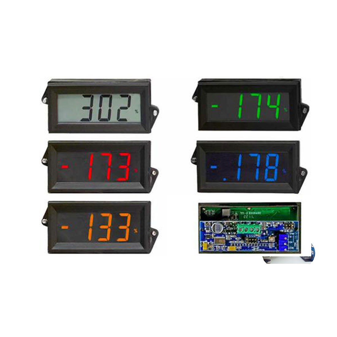 HVPI-24 Series Voltage Powered LCD Digital Panel Meter