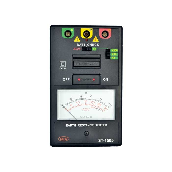 ST-1505 3 Wire Analogue Earth Resistance Tester