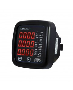 Alpha 30A+ Digital Multifunction LED Power Monitor with Fixed Annunciators
