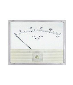 2061 AC Analog Panel Meter - Standard Clear Band