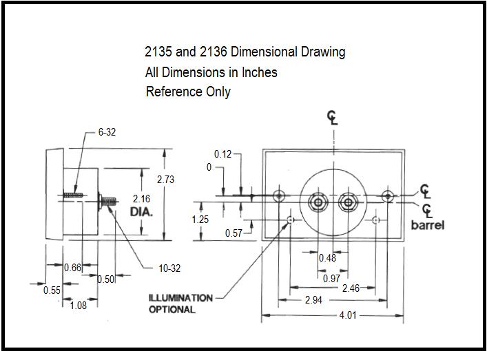 2135 Dimensional Drawing