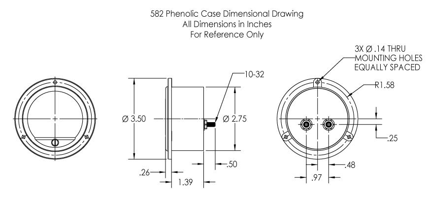 Dimensional Drawing: 582