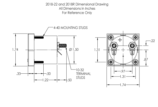 Dimensional Drawing: Datasheet: 2018 , 2018R Analog Meters