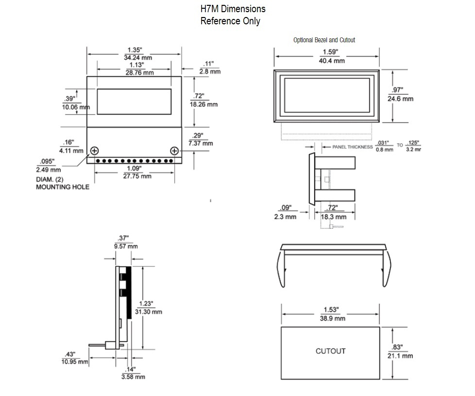 Dimensional Drawing H7M Series