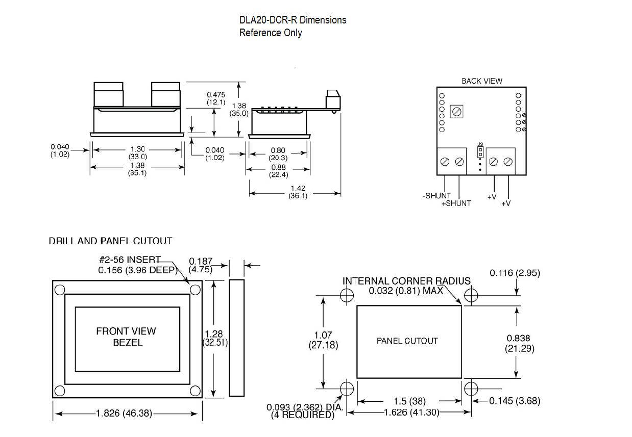 Dimensional Drawing: DLA20-DCA