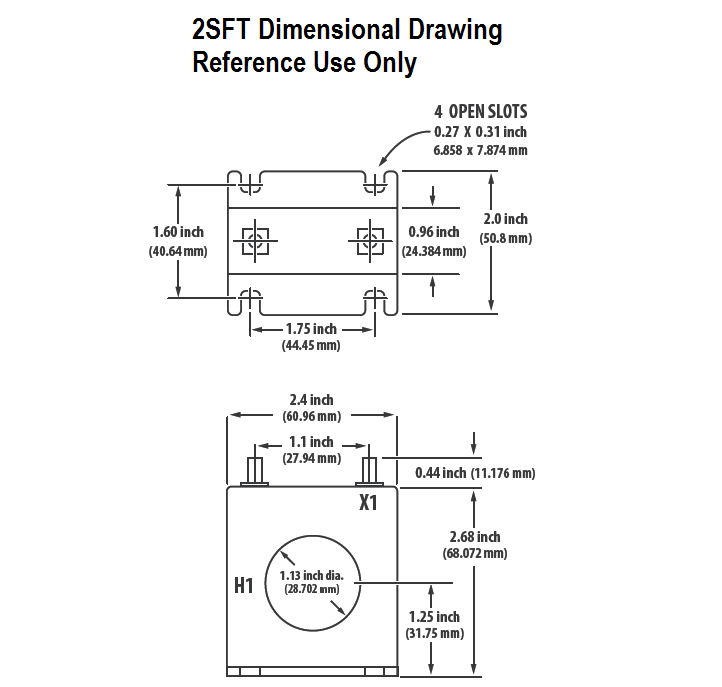 2SFT Dimensional Drawing