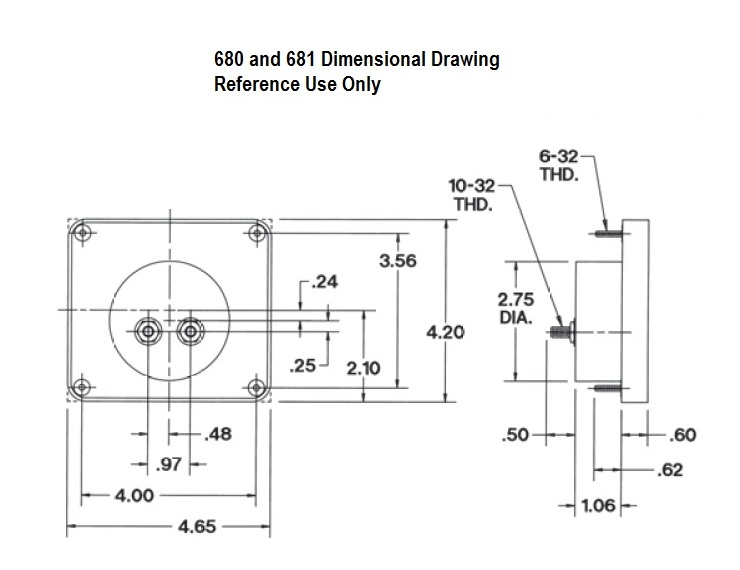 680 and 681 Dimensional Drawing