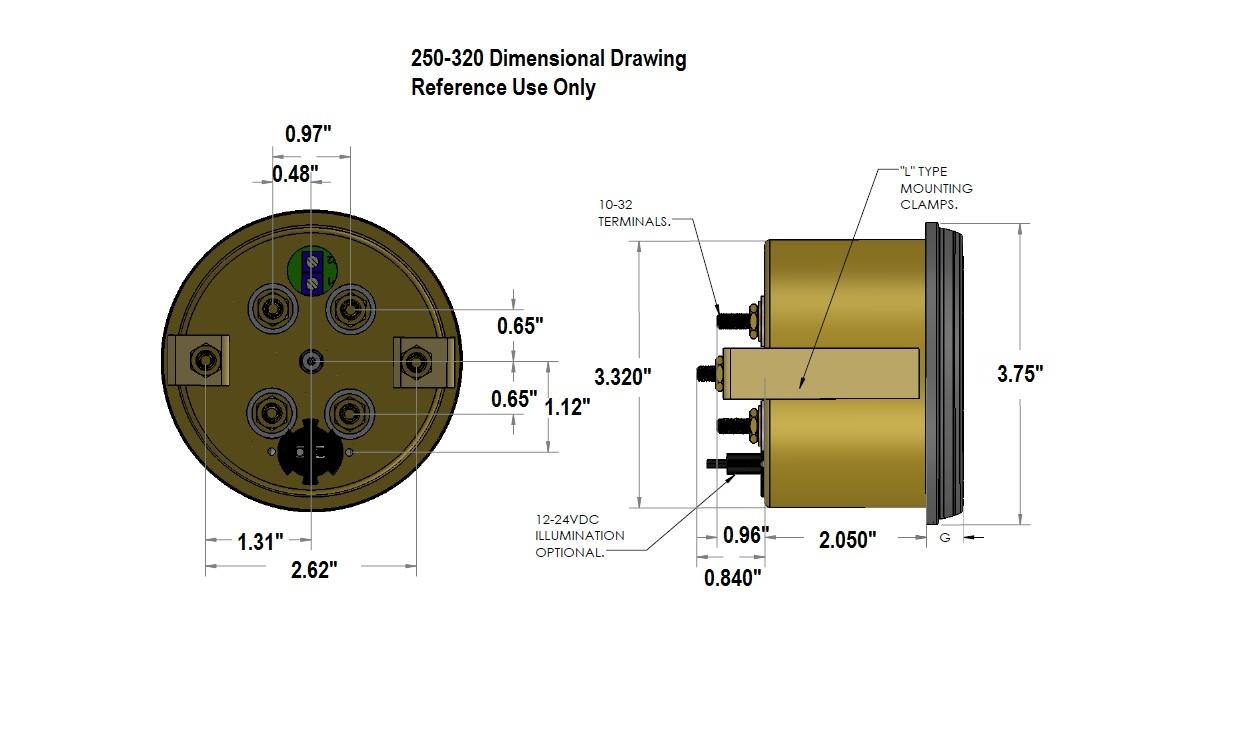 Dimensional Drawing: 250-320