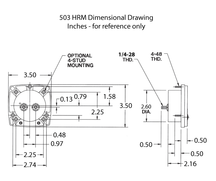 503HRM Dimensional Drawing