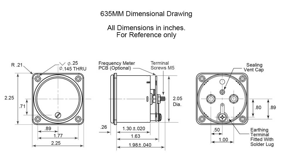 Dimensional Drawing: 635MM