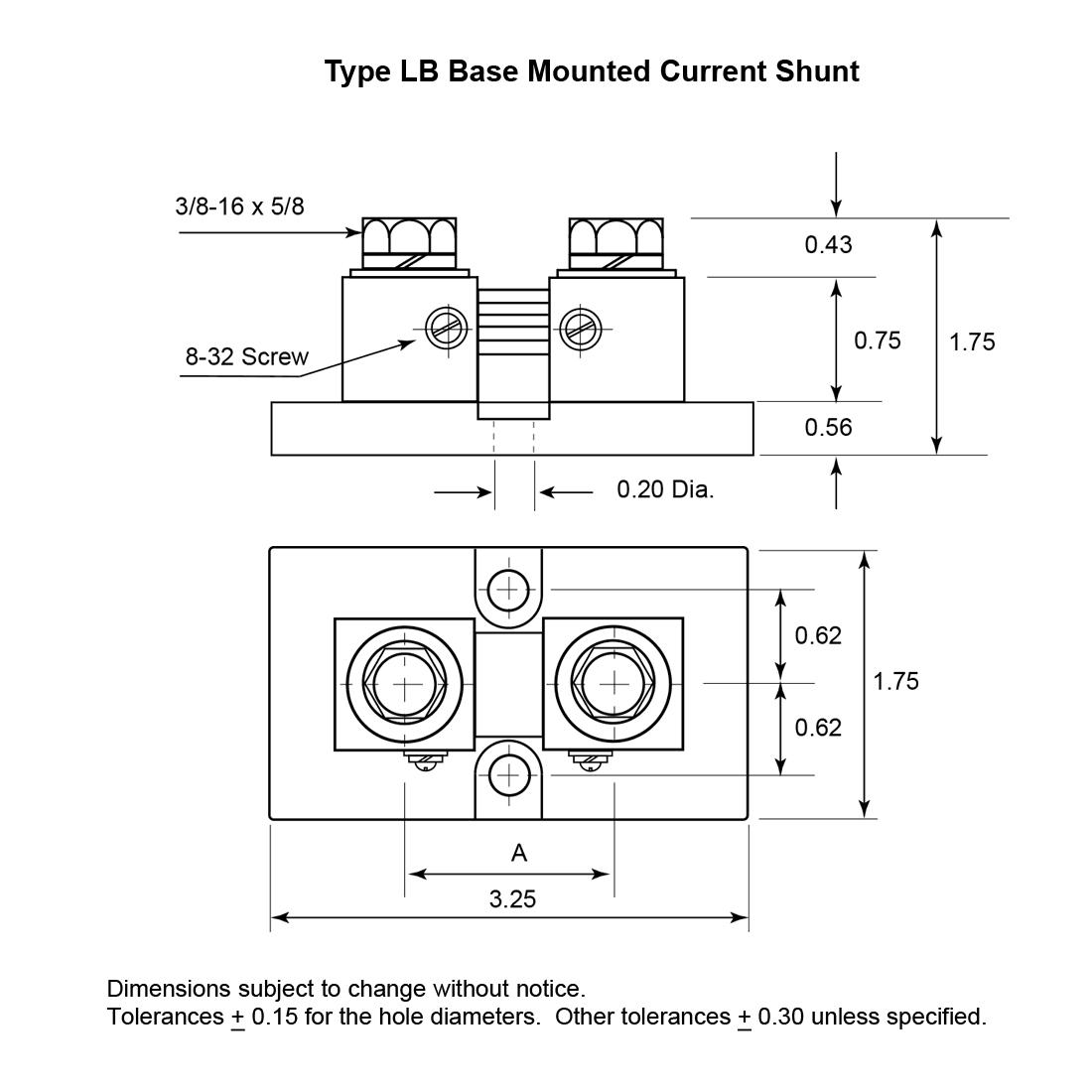 Dimensional Drawing: Type LB