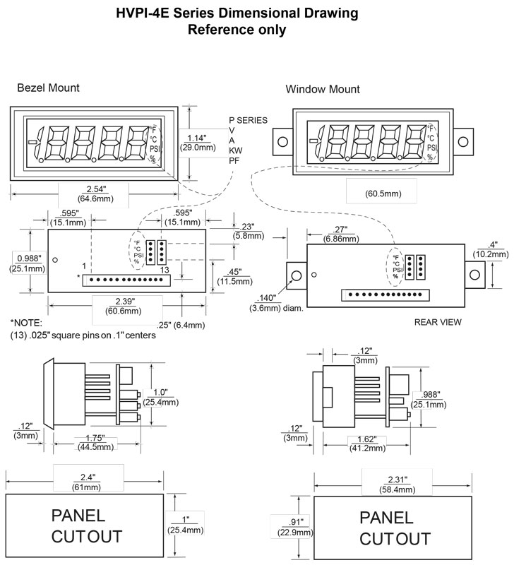 Dimensional Drawing HVPI-4E