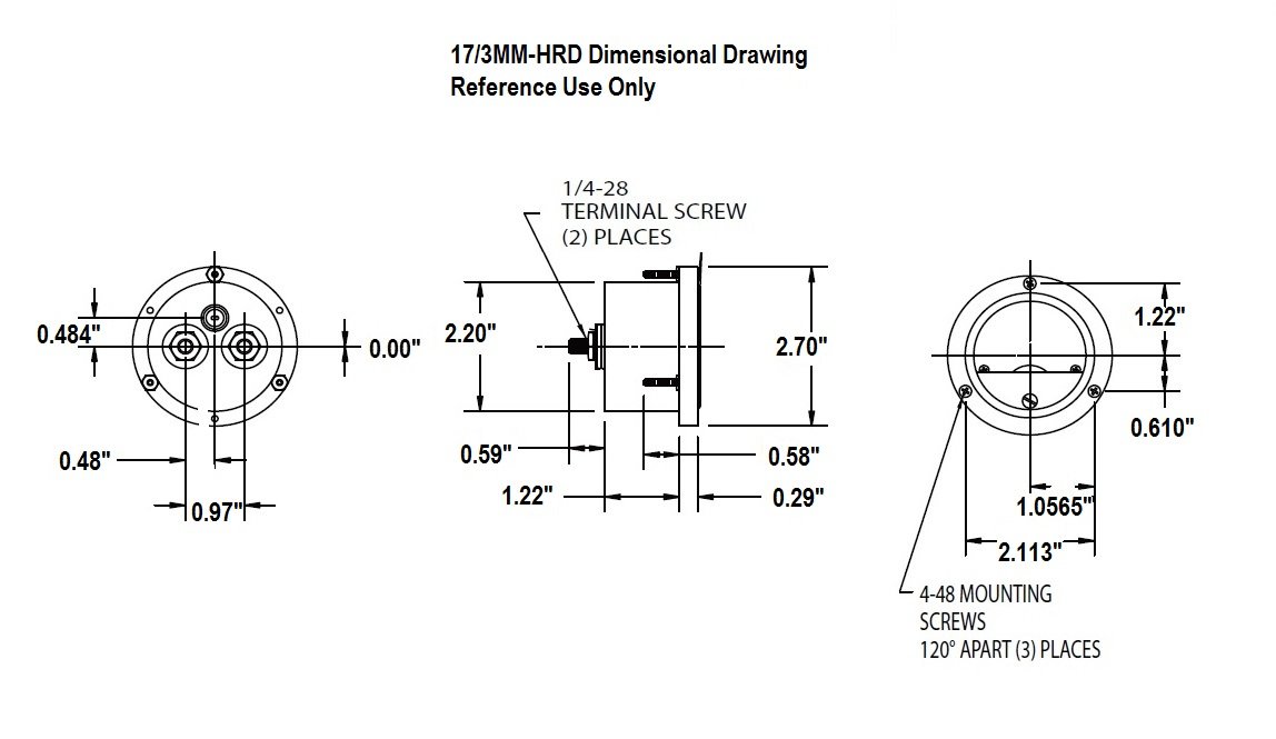 Dimensional Drawing: 17/3MM-HRD