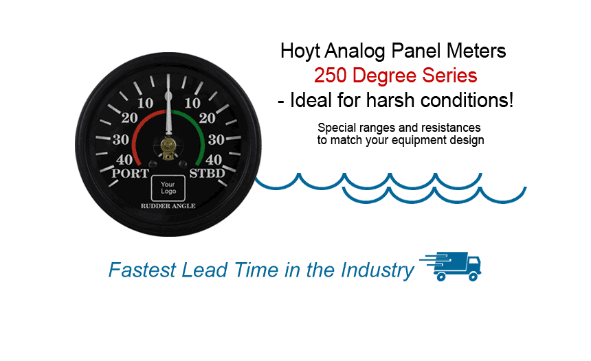 Analog Panel Meters 250 Degree Series