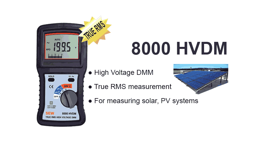 8000 HVDM True RMS High Voltage DMM